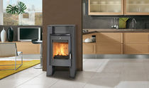 contemporary wood-burning stove (steel) JACK FRANCO BELGE