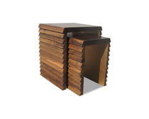 contemporary wood nesting table DORENA Costantini Design