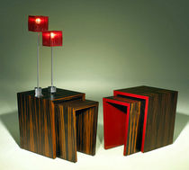 contemporary wood nesting table I Luisa Peixoto Design