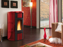 contemporary wood pellet boiler stove ISIDE IDRO Nordica