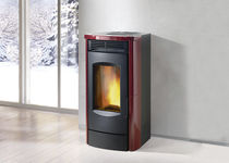 contemporary wood pellet boiler stove DUAL XW SERIES Caminetti Montegrappa
