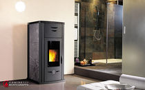 contemporary wood pellet boiler stove PELLET PLUS 15100 POWER Caminetti Montegrappa