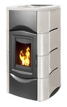 contemporary wood pellet boiler stove HYDRA PLUS 27 KW Calux Srl