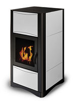 contemporary wood pellet boiler stove ERGOFLAM IDRO STEEL 15 KW Calux Srl