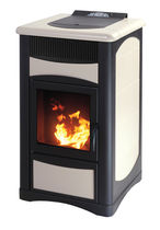 contemporary wood pellet boiler stove ERGOFLAM IDRO PLUS 15 KW  Calux Srl