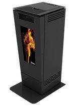 contemporary wood pellet stove (ducted air) FORMA CANALIZZABILE 12 KW Calux Srl