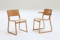contemporary wood sled base chair THEO by Simon Pengelly Chorus Furniture