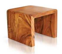 contemporary wood stool WATERFALL Tucker Robbins