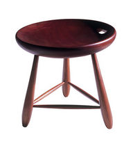 contemporary wood stool MOCHO by Sergio Rodrigues Triode Design
