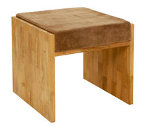contemporary wood stool BLOCK Pavilion rattan