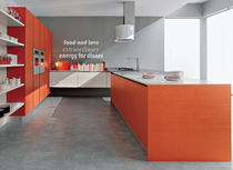 contemporary wood veneer / glass kitchen DOLCEVITA TRENDY Corazzin Group - Contract & hotel