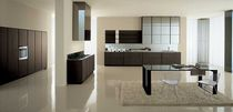 contemporary wood veneer / glass kitchen GLAM Zampieri Cucine