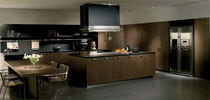 contemporary wood veneer kitchen NANTIA by Stefano Gallizioli TONCELLI