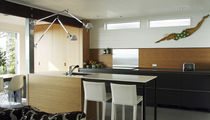contemporary wood veneer kitchen (with island)  Henrybuilt
