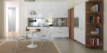 contemporary wood veneer / lacquer kitchen TERRA CASTAGNA CUCINE
