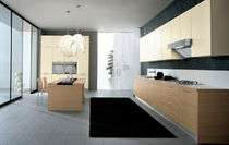 contemporary wood veneer / lacquer kitchen FUTURA Corazzin Group - Contract & hotel