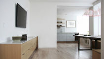 contemporary wood veneer / lacquer kitchen  Henrybuilt