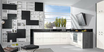 contemporary wood veneer / lacquer kitchen 335 ZETA 314 CALLA Wellmann