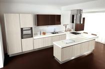 contemporary wood veneer / laminate kitchen BRAVA  CUCINE LUBE