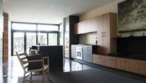 contemporary wood veneer / laminate kitchen  Henrybuilt