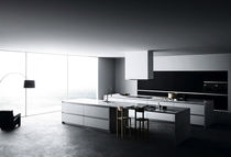 contemporary wood veneer / marble kitchen VETRONICA: CHARACTER 4 MESON'S