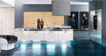 contemporary wood veneer / stainless steel kitchen CRETA copat