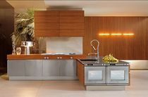 contemporary wood veneer / stainless steel kitchen EXTRA 04 MK CUCINE