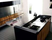 contemporary wood veneer / stainless steel kitchen EVOLUTION TONCELLI