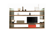 contemporary wooden and metal shelf LES CONTEMPORAINS: NOXIS by L. Gorgoni ROCHE BOBOIS