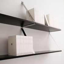contemporary wooden and metal wall shelf POST by Llu&iacute;s Porqueras ABR PRODUCCION