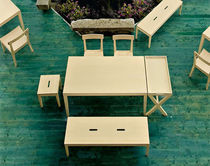 contemporary wooden bench LA LOCANDA by Mangan&egrave;se  Calligaris Italian home design since 1923