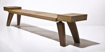contemporary wooden bench HOOK_NOWAK Peter Hook