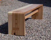 contemporary wooden bench BIEGE Peter Hook