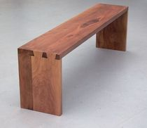 contemporary wooden bench ZINKEN Peter Hook