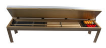 contemporary wooden bench  BILLARDS CHEVILLOTTE