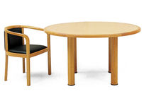 contemporary wooden boardroom round table QUATTRO by Manfred Petri Geiger