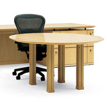 contemporary wooden boardroom round table TRIUNA II Geiger