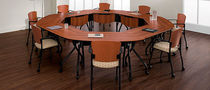 contemporary wooden boardroom table BUNGEE GLOBAL totaloffice