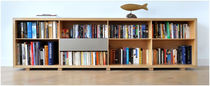 contemporary wooden bookcase LONG & LOW ccoldsign