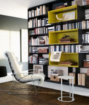 contemporary wooden bookcase by Antonio Citterio FLAT.C B&B Italia