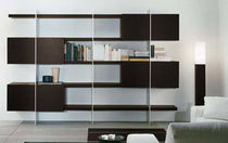 contemporary wooden bookcase BLADE uno design