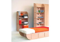 contemporary wooden bookcase H2 by Paolo Cogliati TOTEM