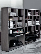 contemporary wooden bookcase ATLANTIS : OVEST Di Liddo & Perego