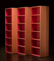 contemporary wooden bookcase ZAG by Karim Rashid Bernini