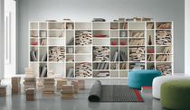 contemporary wooden bookcase L'EGO LIVING 07 Alf Uno