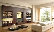 contemporary wooden bookcase  SISTEMITALIA GROUP