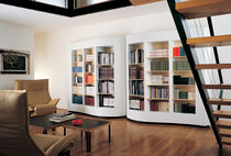 contemporary wooden bookcase 418 PAGINA by J. L. Berthet & D. Vasset Cassina