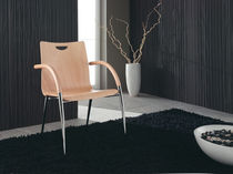 contemporary wooden chair with armrests INGRID : V739 by Jan Sabro Vibiemme