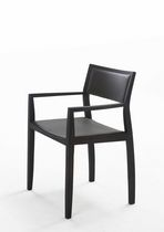contemporary wooden chair with armrests CURVE 2 by Burkhard Vogtherr Arco Contemporary Furniture