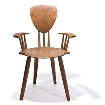 contemporary wooden chair with armrests ARMIN Peter Hook